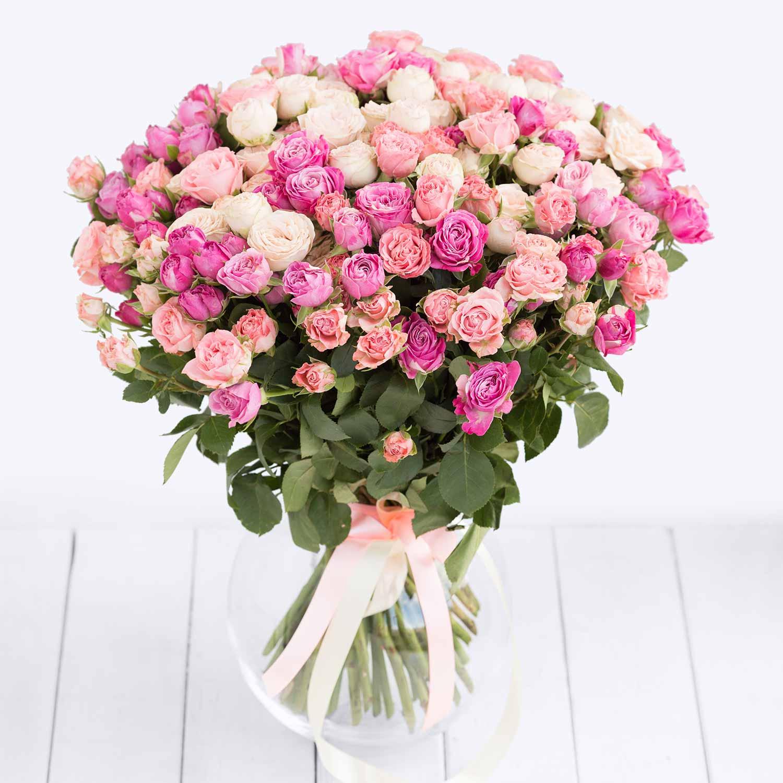 Кустовые розы в букете описание, магазин цветов